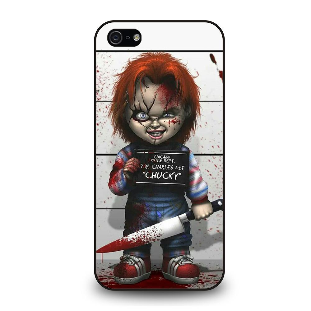 coque custodia cover fundas iphone 11 pro max 5 6 7 8 plus x xs xr se2020 C14157 CHUCKY DOLL WITH KNIFE iPhone 5/5S/SE Case