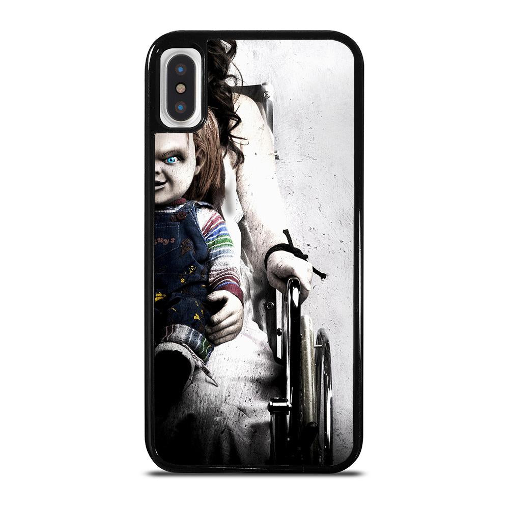 coque custodia cover fundas iphone 11 pro max 5 6 7 8 plus x xs xr se2020 C14212 CHUCKY SCARY DOLL iPhone X / XS Case