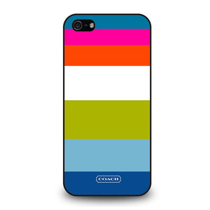 COACH NEW YORK STRIPE Cover iPhone 5 / 5S / SE - benecover