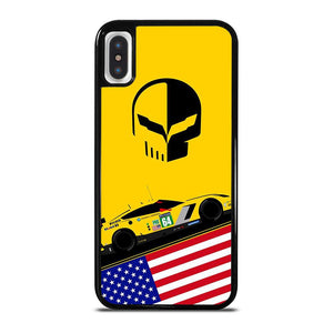 CORVETTE RACING JACK DECAL cover iPhone X / XS,amazon cover iphone x pelle cover iphone x bmw,CORVETTE RACING JACK DECAL cover iPhone X / XS