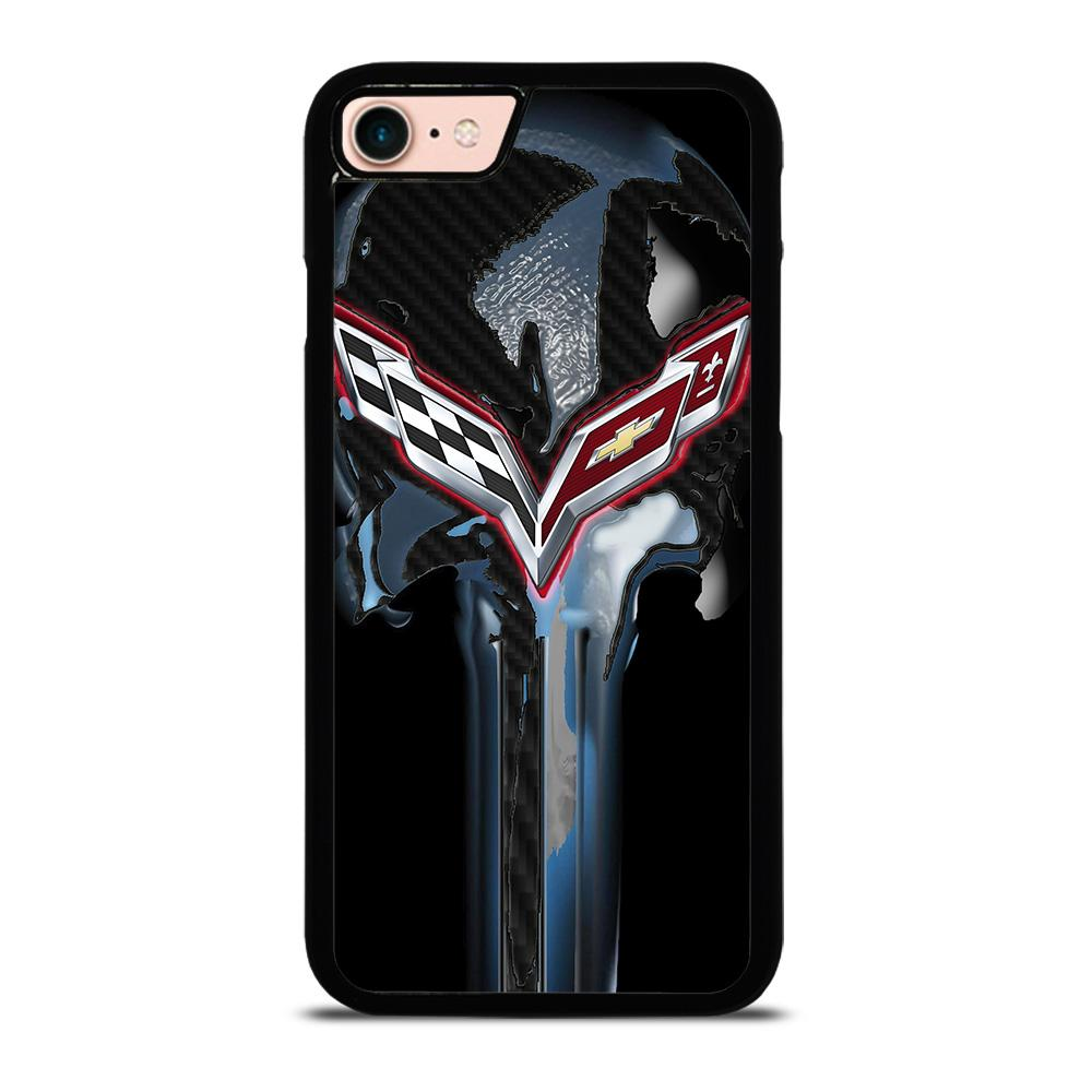 CORVETTE SKULL LOGO Cover iPhone 8