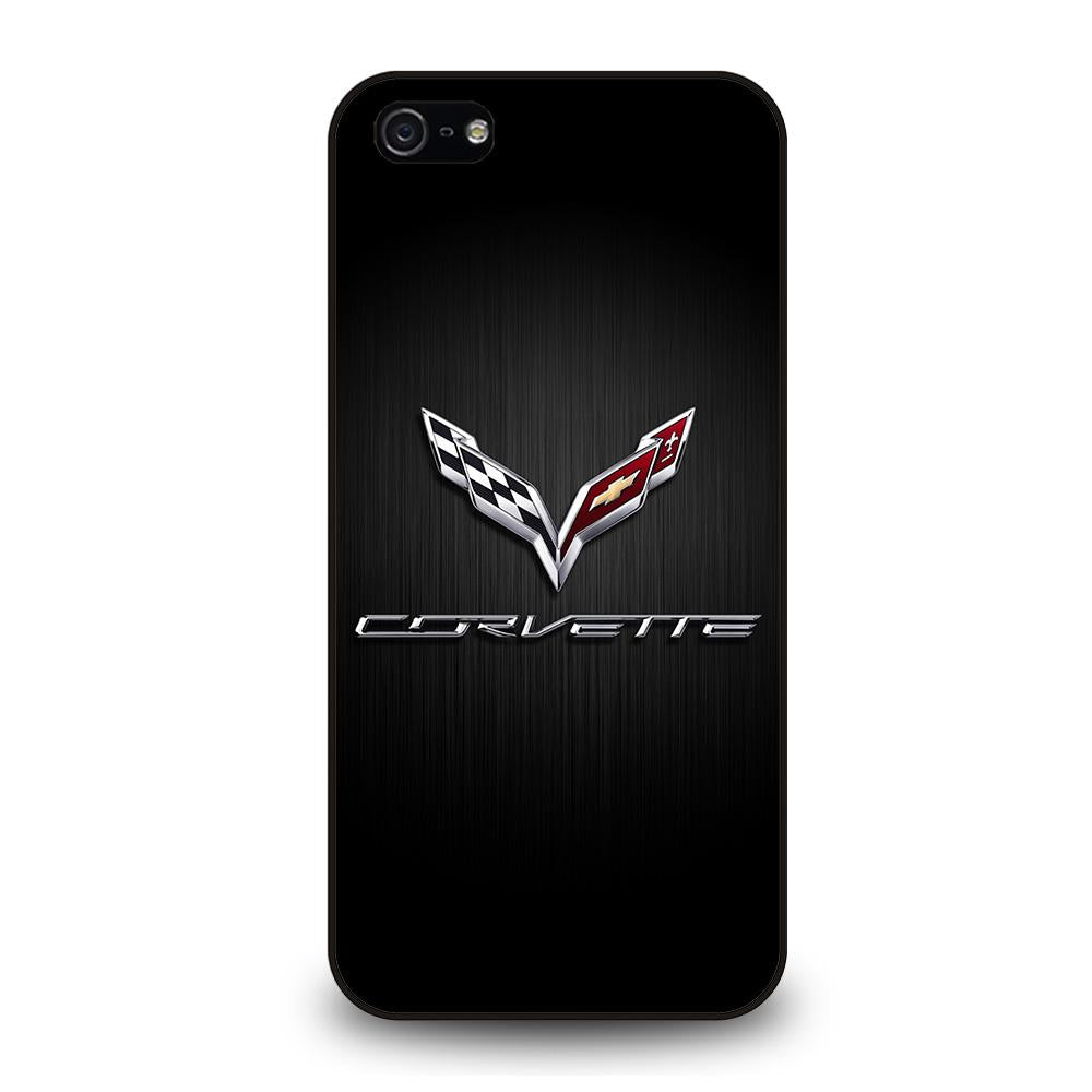 CORVETTE SYMBOLS BLACK Cover iPhone 5 / 5S / SE