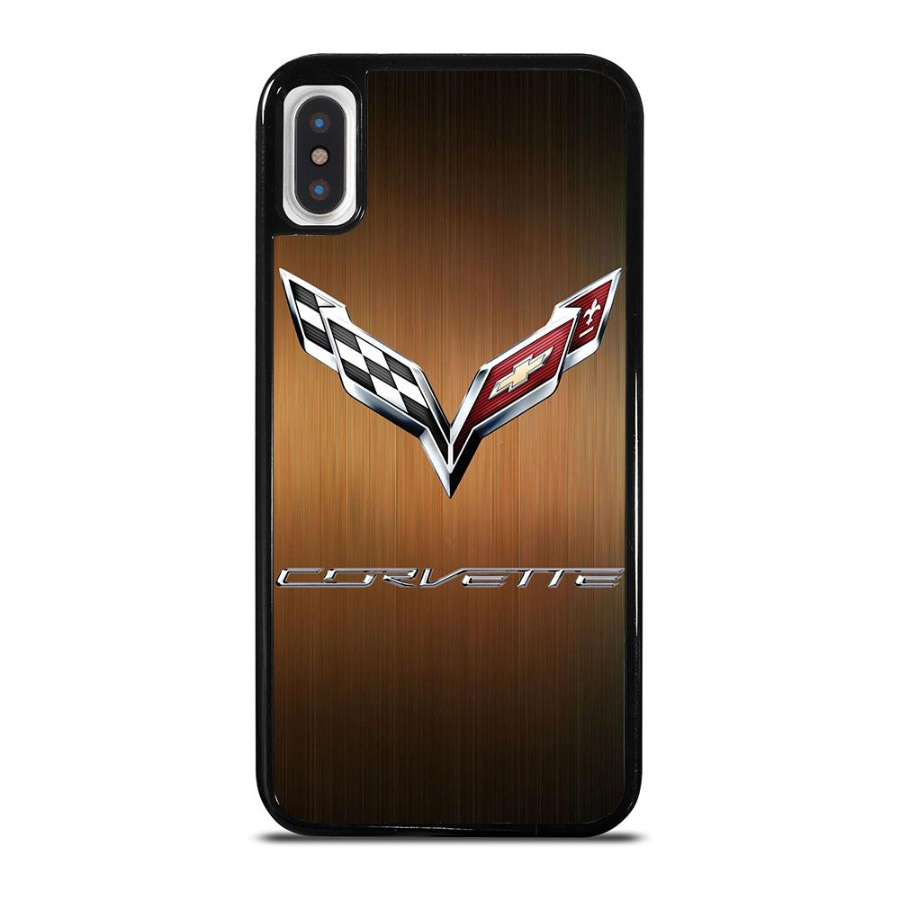 CORVETTE WOODEN LOGO cover iPhone X / XS,cover iphone x pelose cover iphone x metallizzate,CORVETTE WOODEN LOGO cover iPhone X / XS
