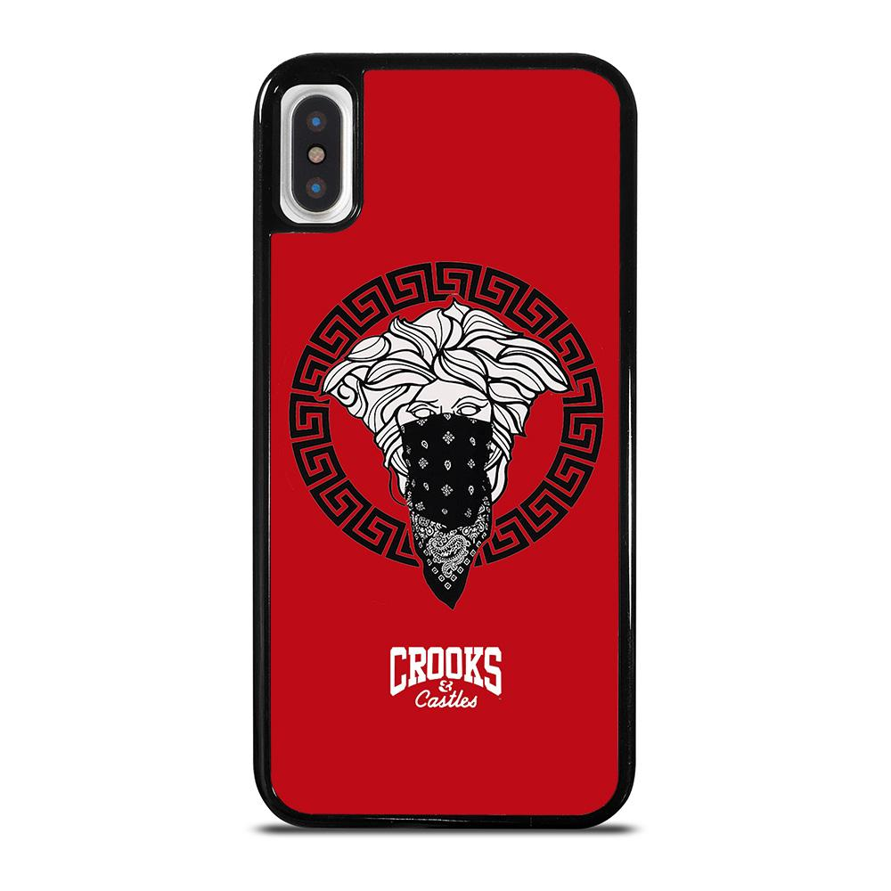 CROOK AND CASTLES BANDANA RED cover iPhone X / XS,spigen cover iphone x spigen cover iphone x,CROOK AND CASTLES BANDANA RED cover iPhone X / XS