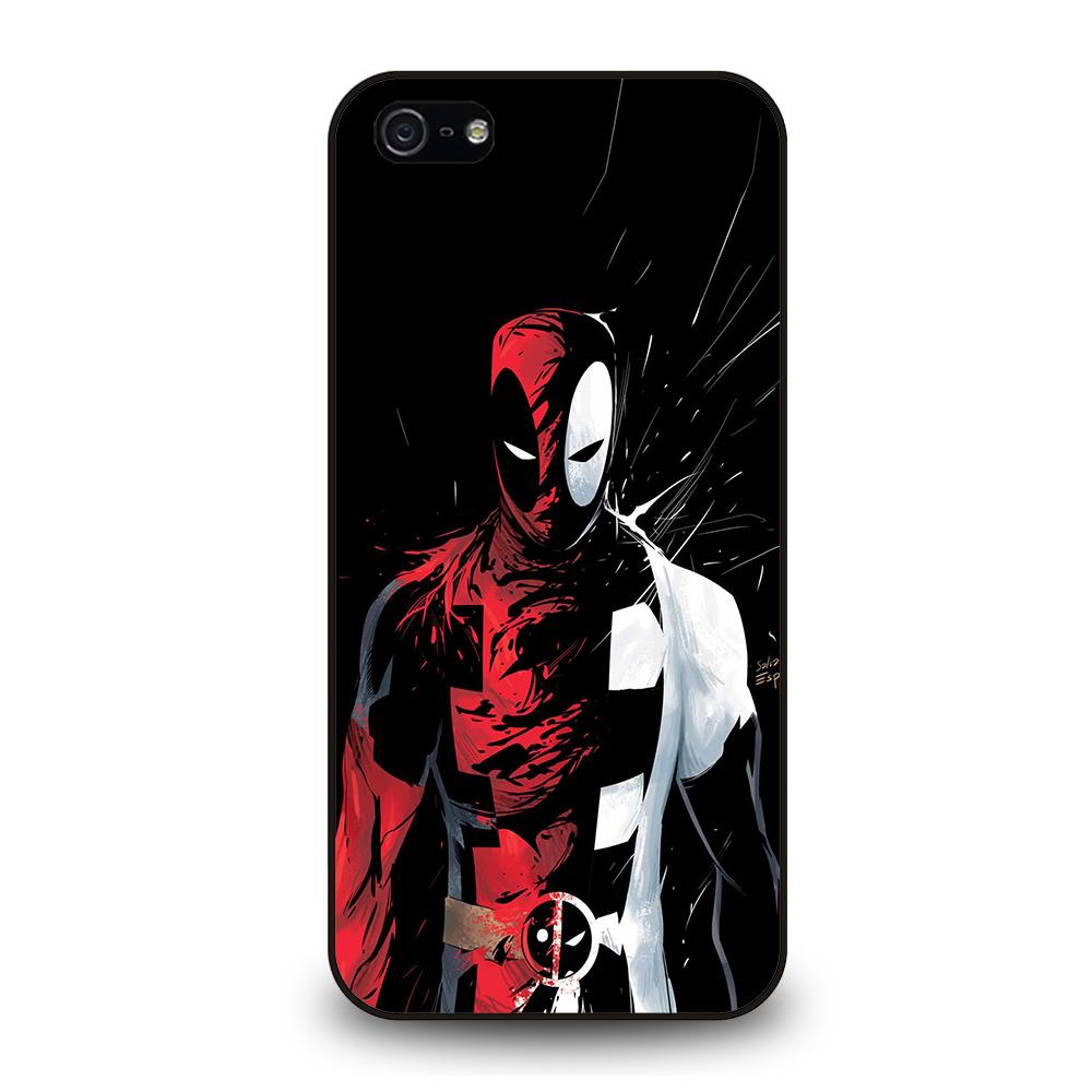 DEADPOOL BLACK IN BLACK WHITE Cover iPhone 5 / 5S / SE - benecover