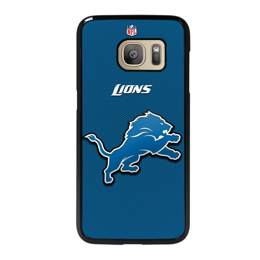 coque custodia cover fundas hoesjes j3 J5 J6 s20 s10 s9 s8 s7 s6 s5 plus edge D20998 DETROIT LIONS BLACK Samsung Galaxy S7 Case
