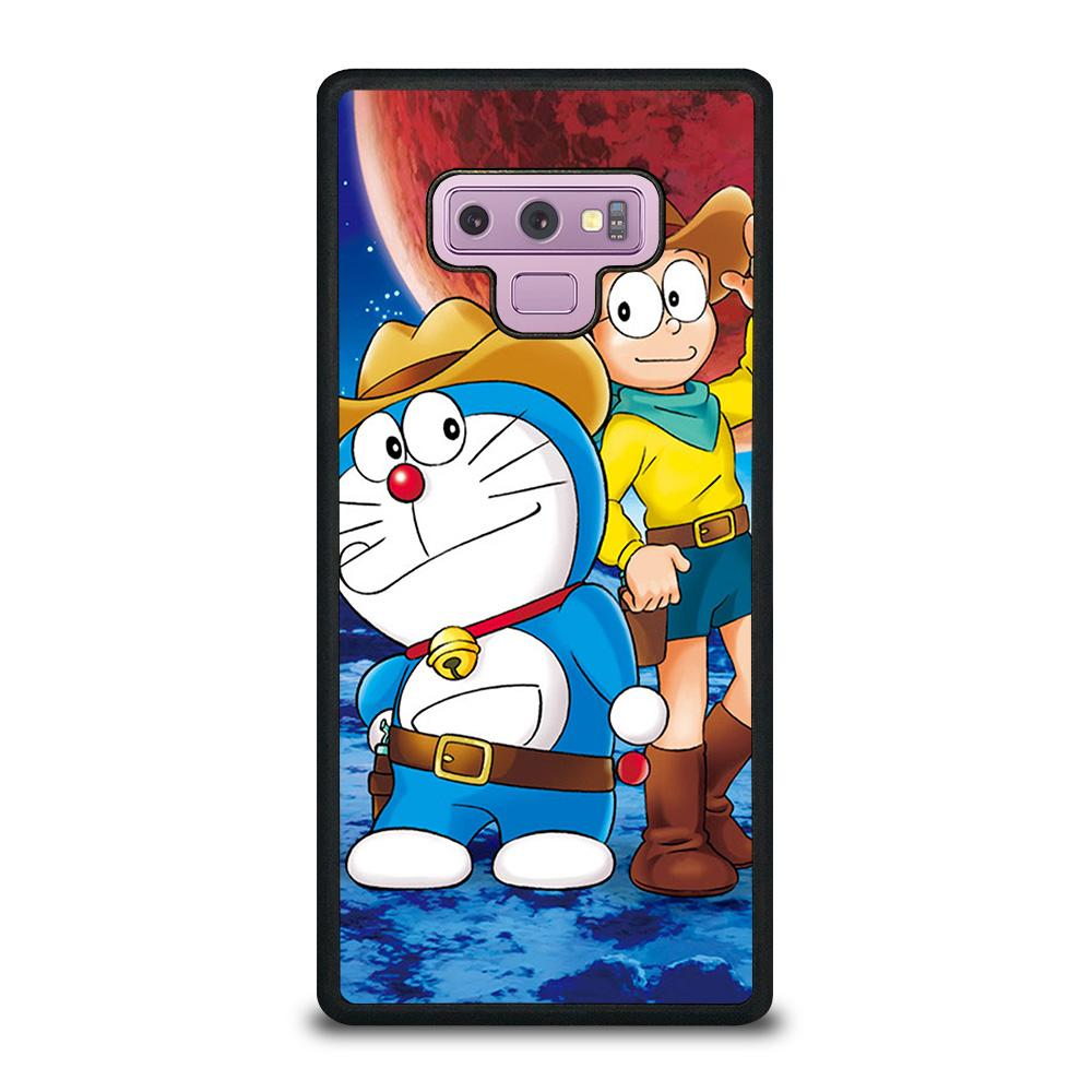coque custodia cover fundas hoesjes j3 J5 J6 s20 s10 s9 s8 s7 s6 s5 plus edge D22316 DORAEMON NOBITA COWBOY Samsung Galaxy Note 9 Case