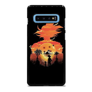 coque custodia cover fundas hoesjes j3 J5 J6 s20 s10 s9 s8 s7 s6 s5 plus edge D22383 DRAGON BALL GOKU SILHOUETTE Samsung Galaxy S10 Plus Case