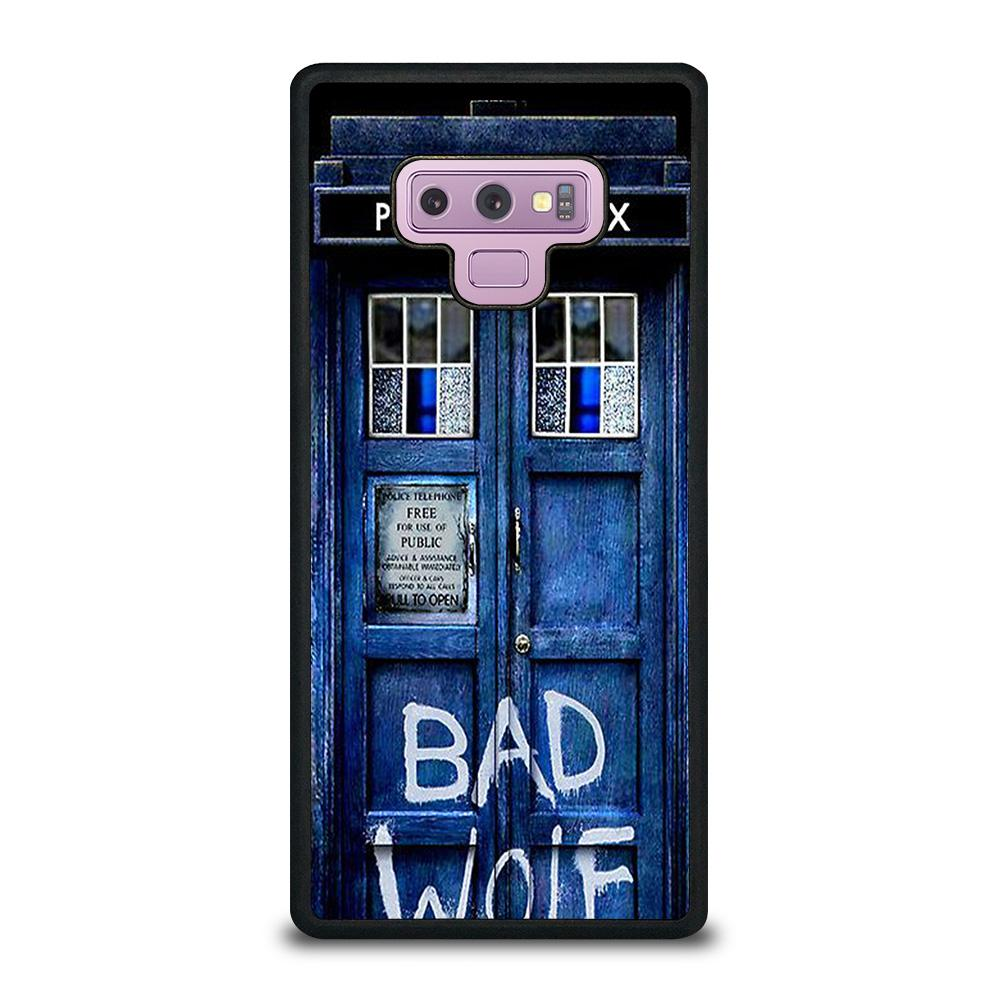 coque custodia cover fundas hoesjes j3 J5 J6 s20 s10 s9 s8 s7 s6 s5 plus edge D22330 DR WHO TARDIS DOOR BAD WOLF #2 Samsung Galaxy Note 9 Case