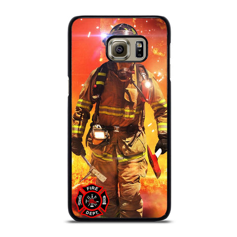 coque custodia cover fundas hoesjes j3 J5 J6 s20 s10 s9 s8 s7 s6 s5 plus edge D24011 FIREFIGHTER FIREMAN #1 Samsung Galaxy S6 Edge Plus Case