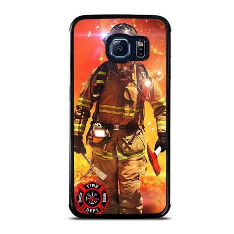 coque custodia cover fundas hoesjes j3 J5 J6 s20 s10 s9 s8 s7 s6 s5 plus edge D24010 FIREFIGHTER FIREMAN #1 Samsung Galaxy S6 Edge Case