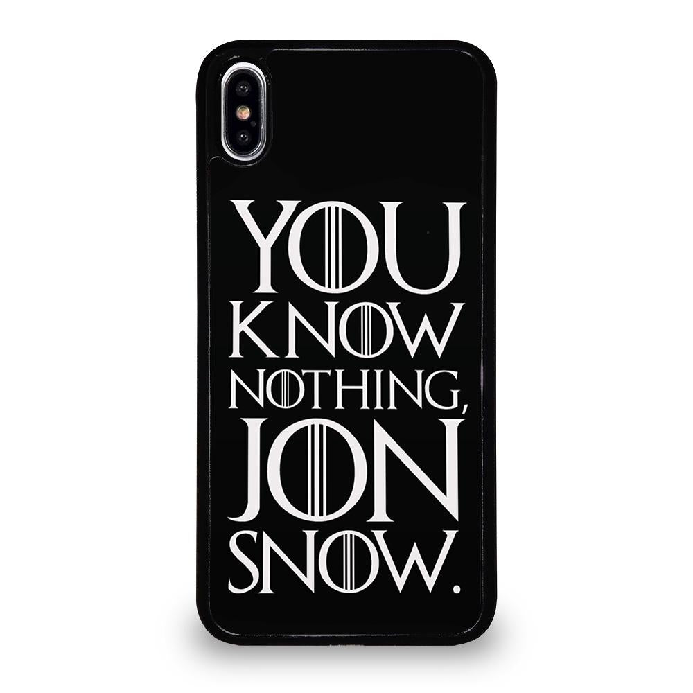 GAME OF THRONES KNOW NOTHING JON SNOW black rubber cover iPhone X / XS,cover iphone x blu cosmo cover iphone x 360 amazon,GAME OF THRONES KNOW NOTHING JON SNOW black rubber cover iPhone X / XS