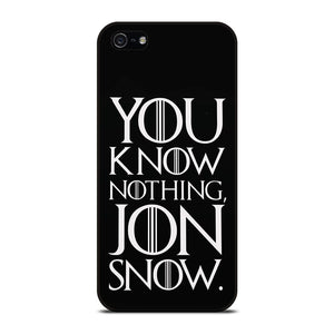 GAME OF THRONES KNOW NOTHING JON SNOW black rubber Cover iPhone 5 / 5S / SE