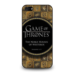 GAME OF THRONES THE NOBLE HOUSES OF WESTEROS Cover iPhone 5 / 5S / SE