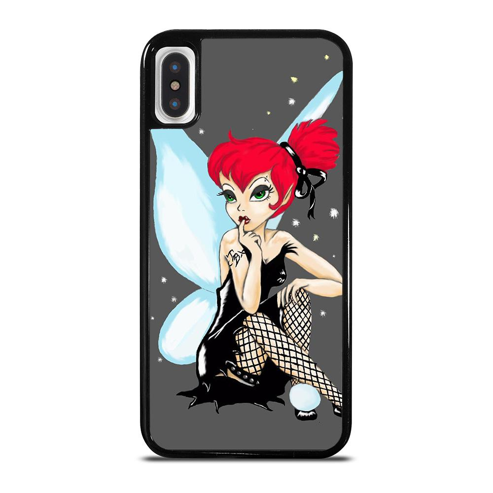 GOTHIC TINKERBELL DISNEY cover iPhone X / XS,cover iphone x 1€ cover iphone x in contrassegno,GOTHIC TINKERBELL DISNEY cover iPhone X / XS