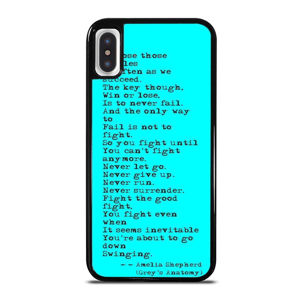 GREY'S ANATOMY QUOTES cover iPhone X / XS,cover iphone x papaya cover iphone x ultra slim,GREY'S ANATOMY QUOTES cover iPhone X / XS
