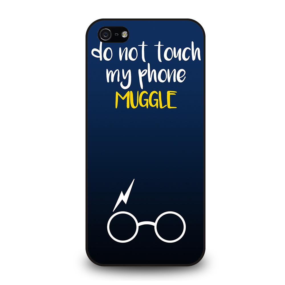 HARRY POTTER MUGGLE DO NOT TOUCH MY PHONE Cover iPhone 5 / 5S / SE