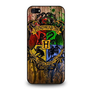 HOGWARTS HARRY POTTER LOGO WOOD Cover iPhone 5 / 5S / SE