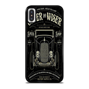 HOT RODS FACTORY VINTAGE RETRO CAR cover iPhone X / XS,cover iphone x pelle apple cover iphone x papaya,HOT RODS FACTORY VINTAGE RETRO CAR cover iPhone X / XS
