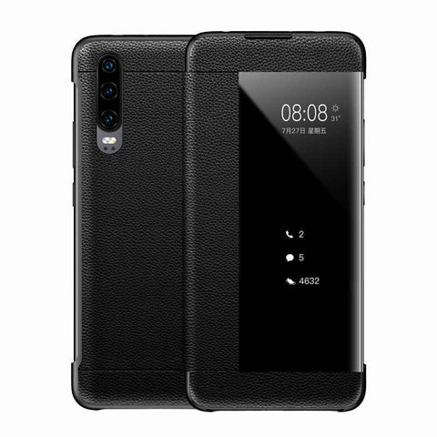 NUOVO Flip Smart Window VIEW Case Cover PER Huawei P20/P30/P10/9 Pro