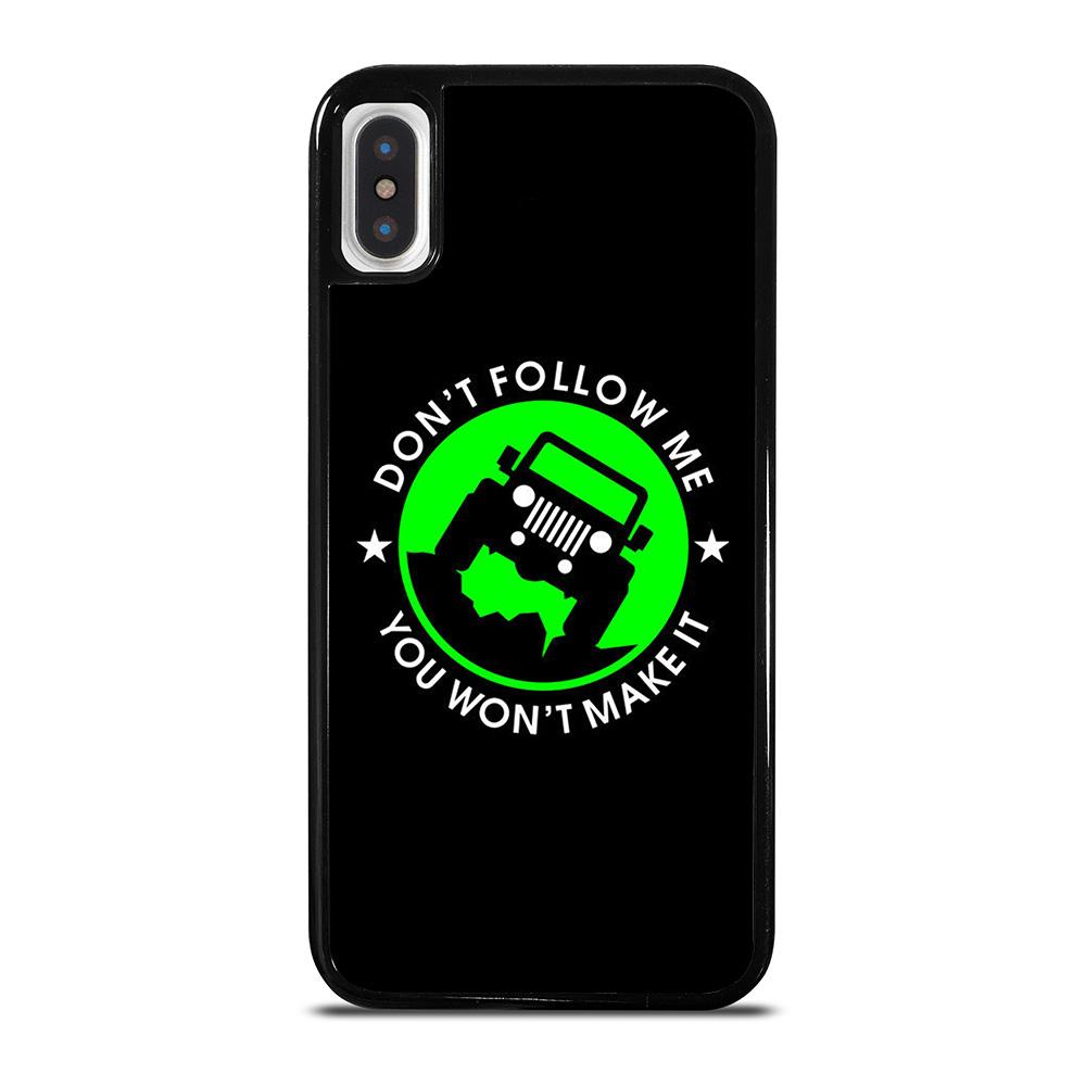 JEEP DONT FOLLOW ME QUOTES cover iPhone X / XS,cover iphone x 3d cover iphone x apple original,JEEP DONT FOLLOW ME QUOTES cover iPhone X / XS