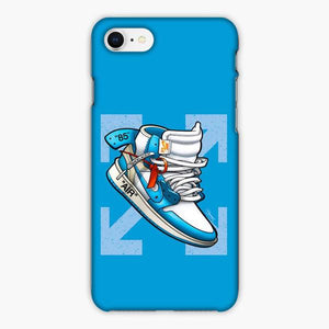 Custodia Cover iphone 6 7 8 plus Jordan 1 Off White Arrow Blue