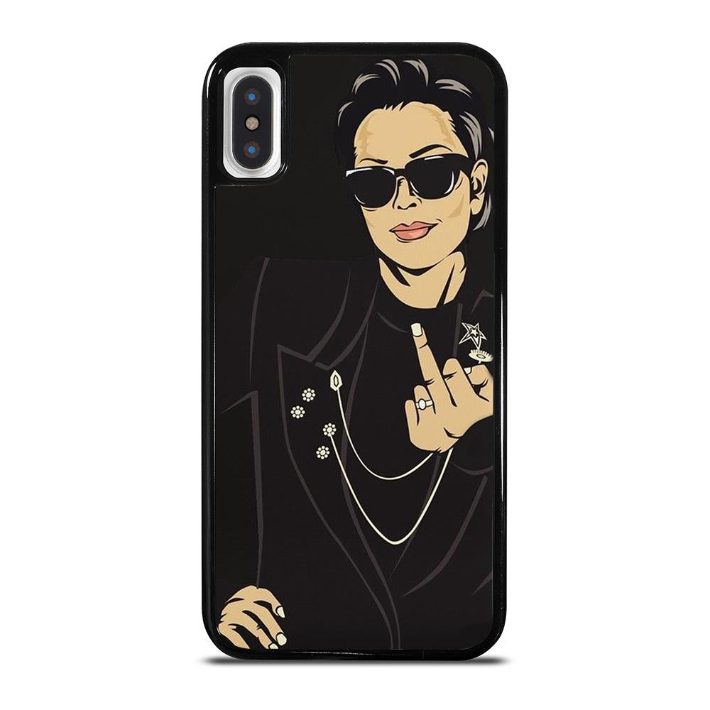 KRIS JENNER MIDDLE FINGER cover iPhone X / XS,cover iphone x stussy patchwork 3d cover iphone x,KRIS JENNER MIDDLE FINGER cover iPhone X / XS