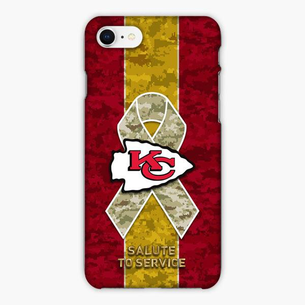 Custodia Cover iphone 6 7 8 plus Kansas City Chiefs Salute To Service