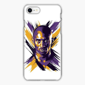 Custodia Cover iphone 6 7 8 plus Kobe Bryant La Lakers Best Nba The Black Mamba Cartoon Watercolor