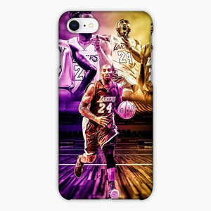 Custodia Cover iphone 6 7 8 plus Kobe Bryant Los Angeles Lakers Angry Face Pond