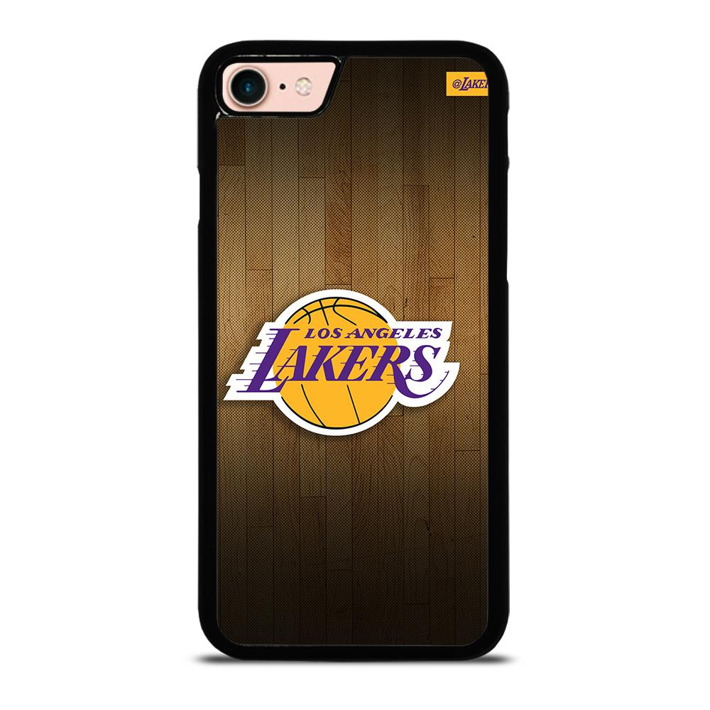 LA LAKERS BASKETBALL WOODEN Cover iPhone 8