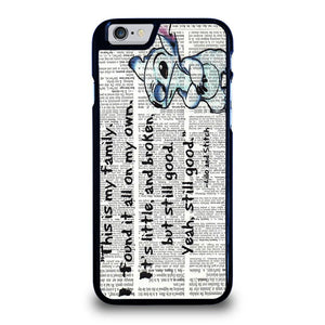 LILO AND STITCH QUOTES Disney Cover iPhone 6 / 6S