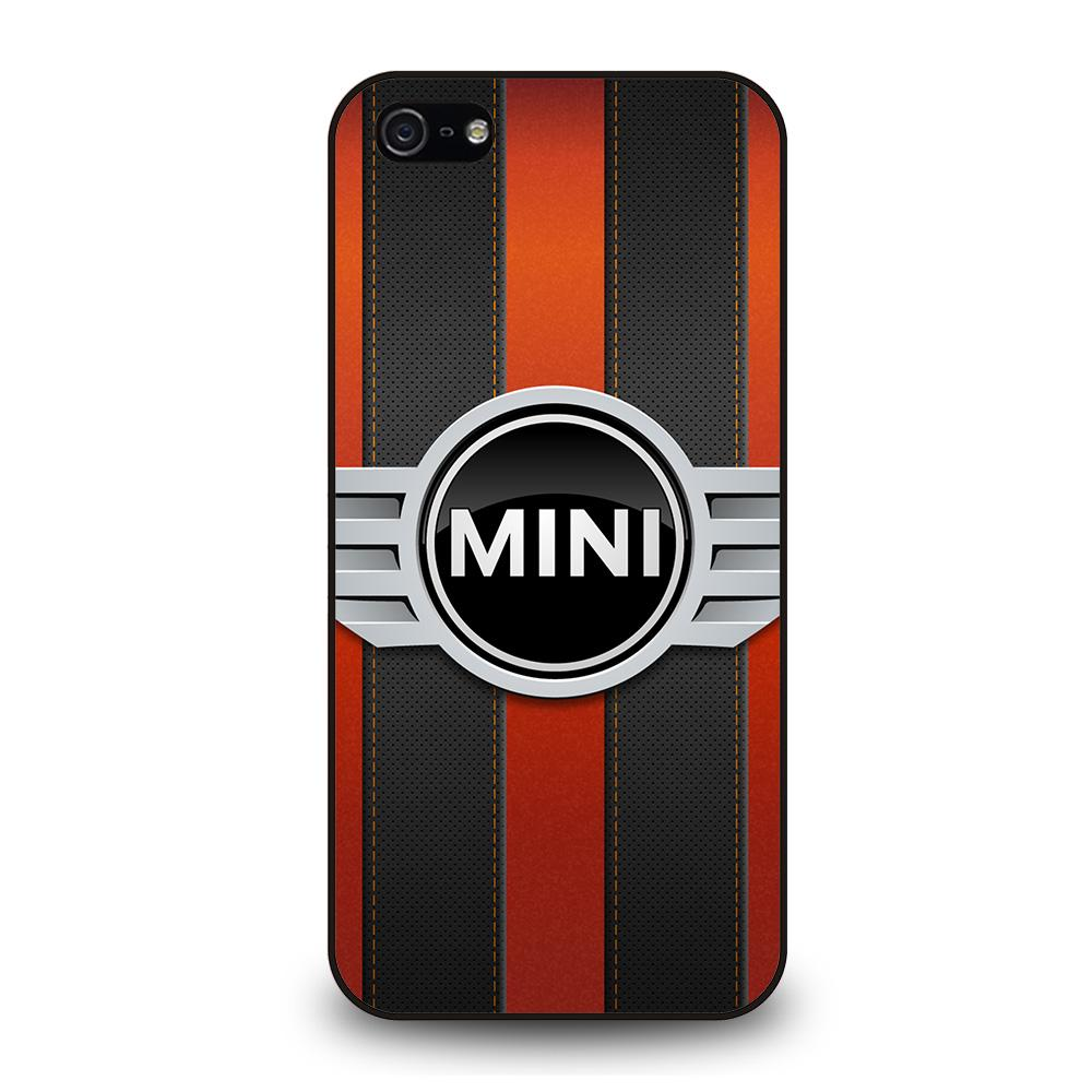 MINI COPER LOGO BLACK RED STRIPES Cover iPhone 5 / 5S / SE