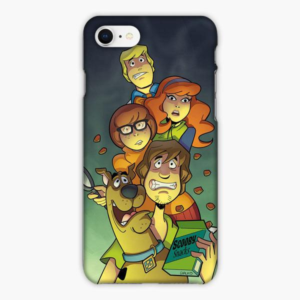 Custodia Cover iphone 6 7 8 plus Mens 5x Scooby Doo Tense Expression
