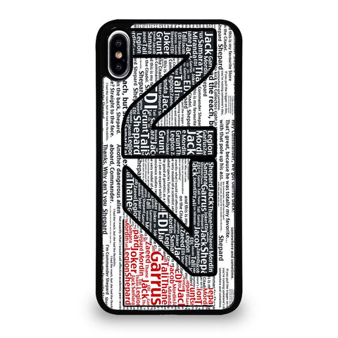N7 MASS EFFECT LOGO TYPOGRAPHY Cover iPhone XS Max,cover iphone xs max unieuro cover iphone xs max r,N7 MASS EFFECT LOGO TYPOGRAPHY Cover iPhone XS Max