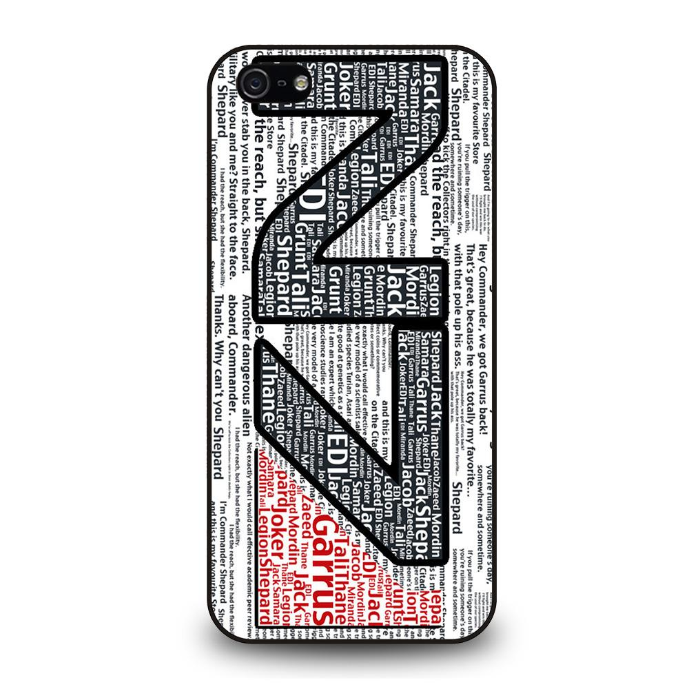 N7 MASS EFFECT LOGO TYPOGRAPHY Cover iPhone 5 / 5S / SE