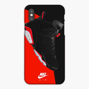 Custodia Cover iphone 6 7 8 plus Nike Air Shoes Black Red