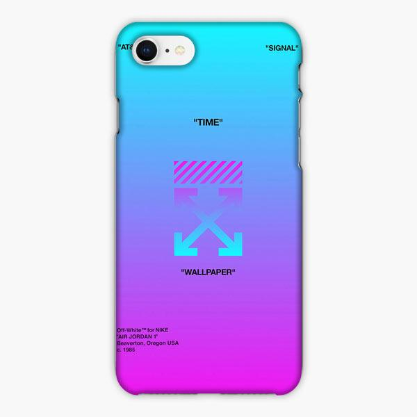 Custodia Cover iphone 6 7 8 plus Nike Off White Arrow Gradient Purple