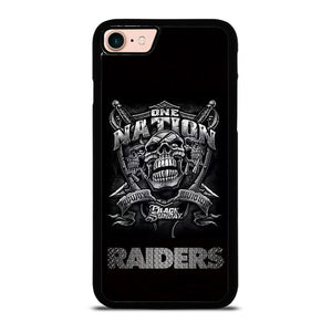 OAKLAND RAIDERS BLACK ONE NATION Cover iPhone 8