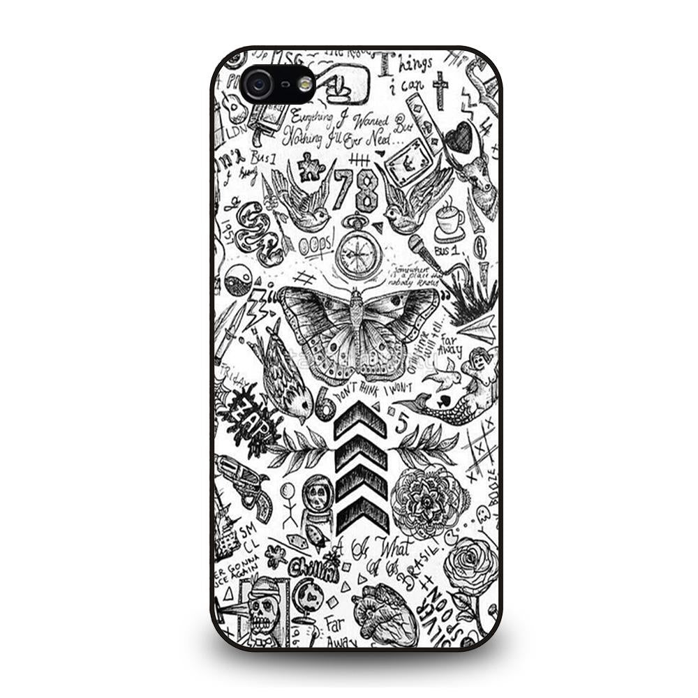 ONE DIRECTION TATTOOS Cover iPhone 5 / 5S / SE