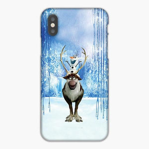 Custodia Cover iphone 6 7 8 plus Olaf Riding On Sven Frozen
