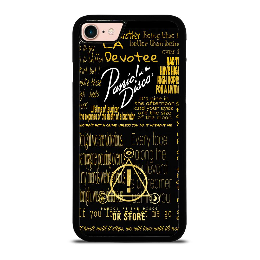 PANIC AT THE DISCO LOGO GOLD custodia cover iPhone8