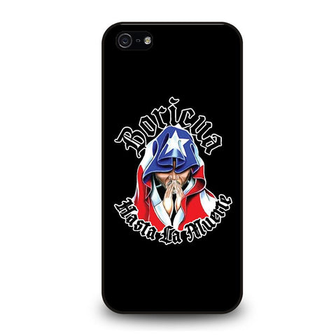 coque custodia cover fundas iphone 11 pro max 5 6 7 8 plus x xs xr se2020 C29099 PUERTO RICO FLAG BORICUA iPhone 5/5S/SE Case