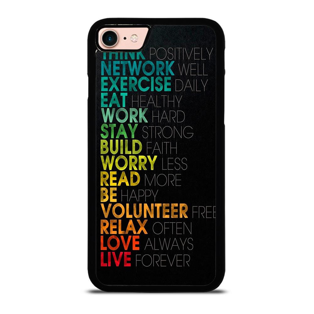 QUOTE INSPIRATIONAL THINK POSITIVELY Cover iPhone 8