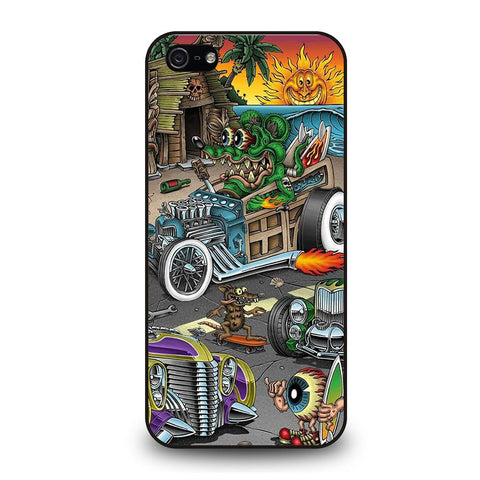 coque custodia cover fundas iphone 11 pro max 5 6 7 8 plus x xs xr se2020 C29341 RAT FINK SPEEDLESS #2 iPhone 5/5S/SE Case
