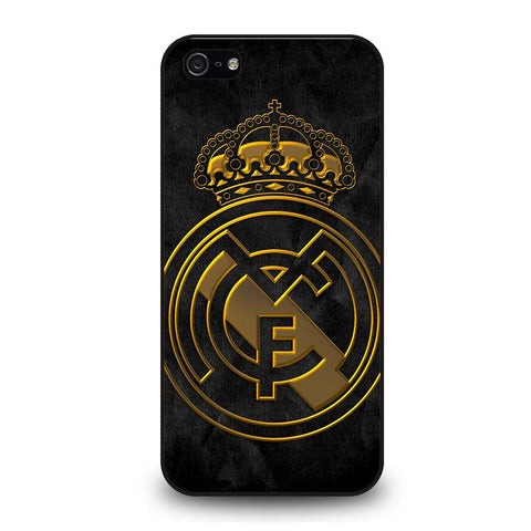 coque custodia cover fundas iphone 11 pro max 5 6 7 8 plus x xs xr se2020 C29486 REAL MADRID GOLD iPhone 5/5S/SE Case