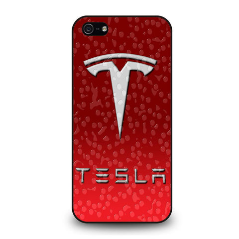 coque custodia cover fundas iphone 11 pro max 5 6 7 8 plus x xs xr se2020 C29537 RED TESLA EMBLEM LOGO WATER iPhone 5/5S/SE Case
