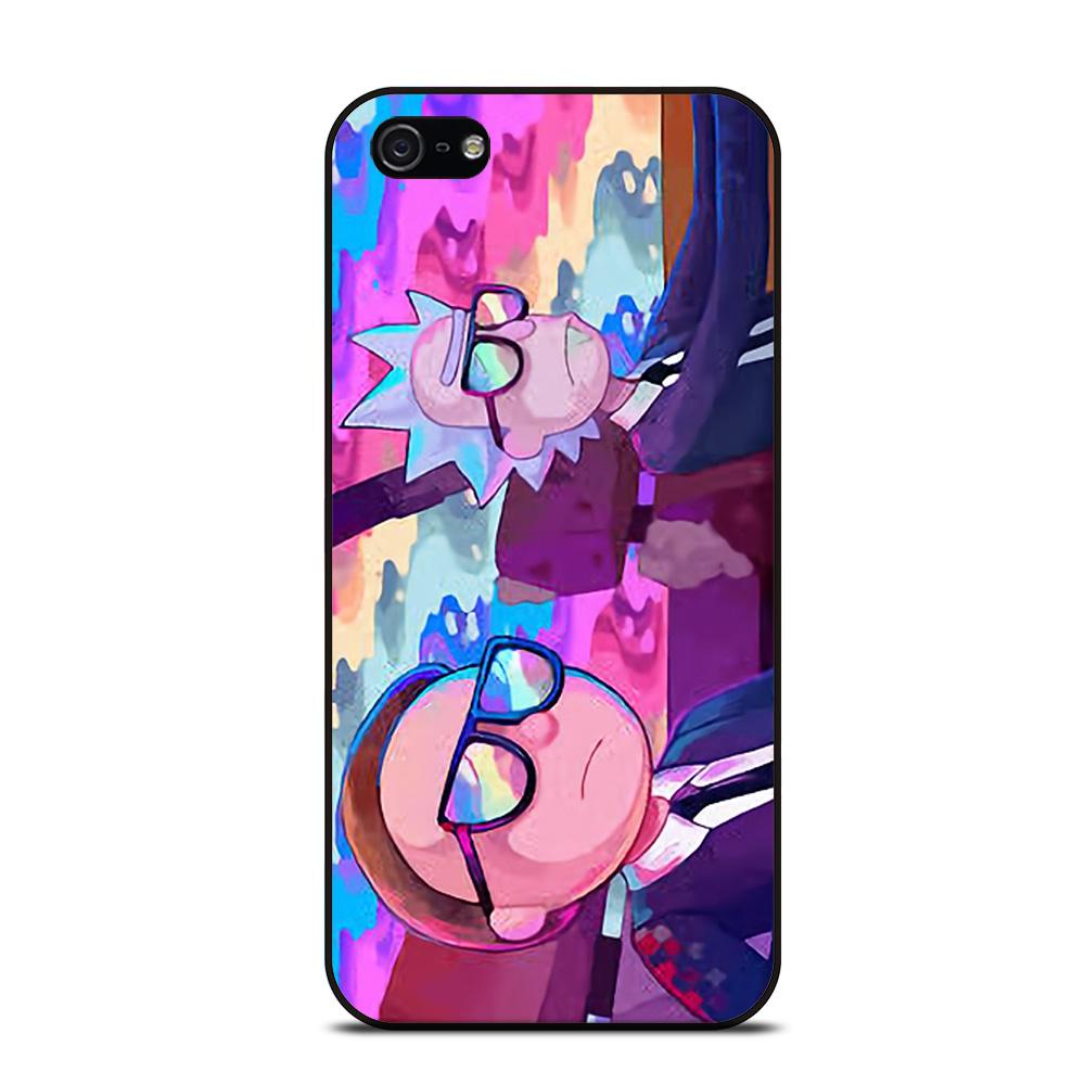 RICK AND MORTY CARTOON RAINBOW Cover iPhone 5 / 5S / SE