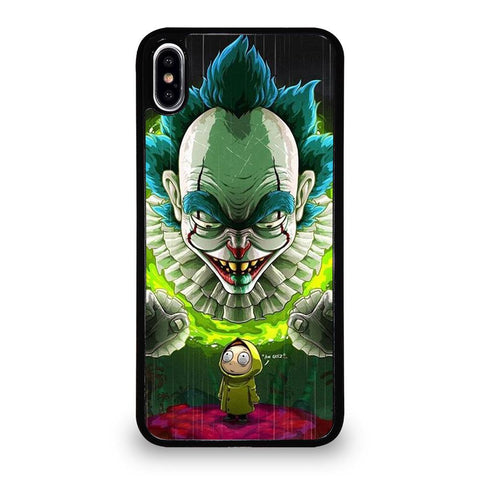 coque custodia cover fundas iphone 11 pro max 5 6 7 8 plus x xs xr se2020 C29613 RICK AND MORTY IT iPhone XS Max Case