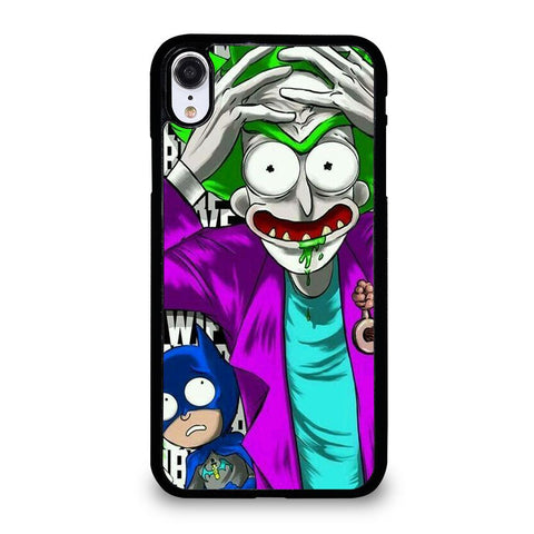 coque custodia cover fundas iphone 11 pro max 5 6 7 8 plus x xs xr se2020 C29632 RICK AND MORTY JOKER BATMAN iPhone XR Case